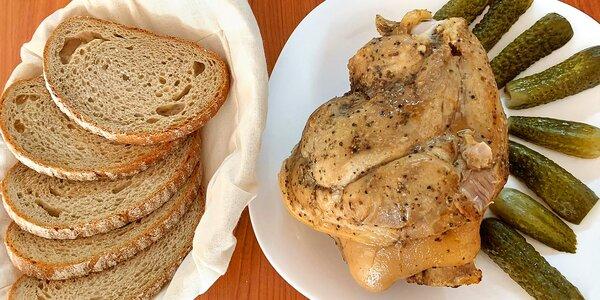 Selské maxi koleno a dezert: cca 2 kila masa