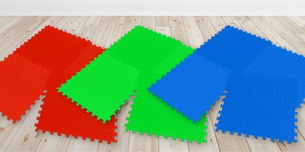 Pěnové puzzle na podlahu pro hraní i cvičení
