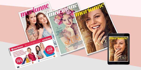 3 čísla časopisu Marianne i kupony na Dny Marianne