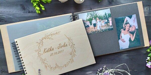 Dřevěná fotoalba s vlastním motivem na deskách