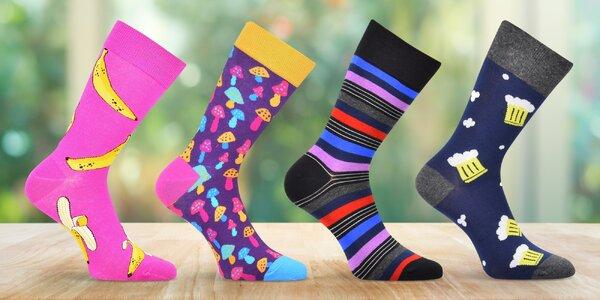 Dětské, dámské i pánské ponožky v různých vzorech