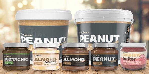 Ořechová másla: smooth, crunchy, kokos i pistácie