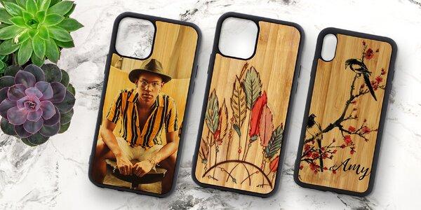 Bambusové kryty na iPhone s vaší fotografií