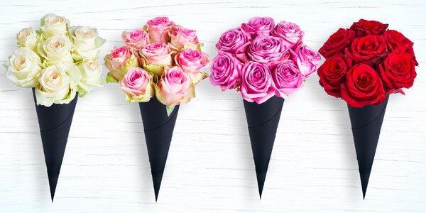 Potěšte svou milovanou kornoutem 7 krásných růží