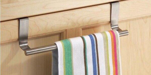 Závěsný nerezový držák na utěrky a ručníky