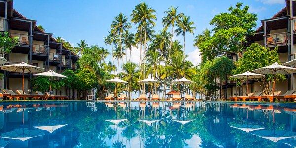 Tropický resort na Srí Lance: pláž a all inclusive