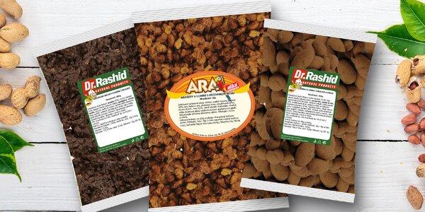 Oříšky v čokoládě, kakau i medu