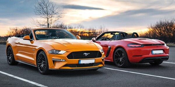 20–120 min. řízení Mustangu GT 5.0 a Porsche 718