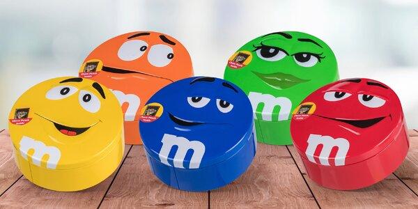 200 gramů čokoládových bonbónů M&M's v dóze