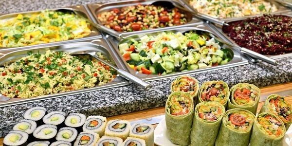 300 g jídla podle výběru ve veganském bufetu