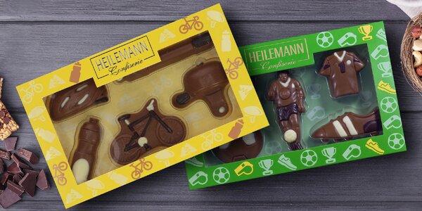 Originální čokoládové sady: nářadí, zoo i letadla