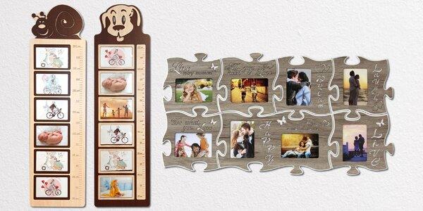 Vystavte si fotky: rámeček s metrem i puzzle