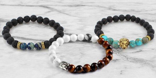 Náramky plné energie s přírodními kameny a symboly