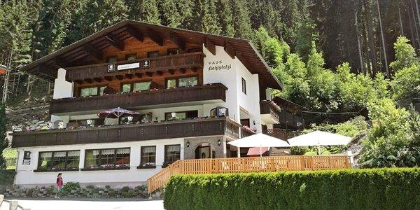 Penzion v Tyrolských Alpách s jídlem a wellness