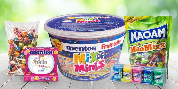 Velká balení cukrovinek: Mentos, Maoam či Chupa Chups