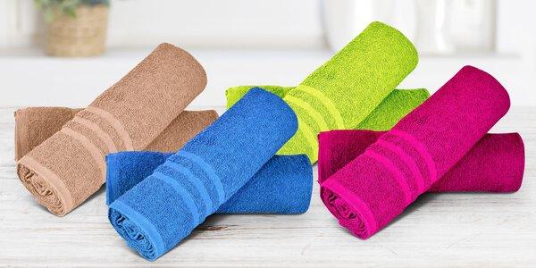 Jednobarevné osušky a ručníky ze 100% bavlny