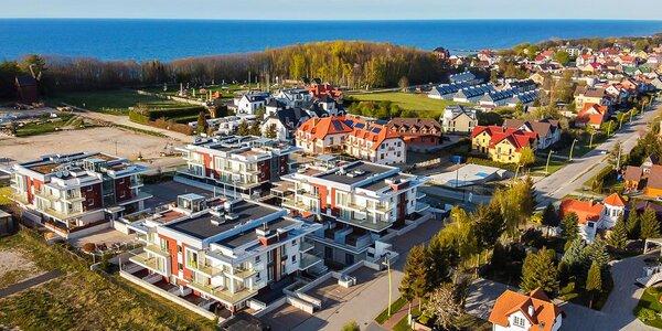 Moderní apartmány s terasou na pobřeží Baltu