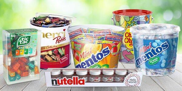 Obří boxy cukrovinek: Mentos, Tic Tac i Nutella