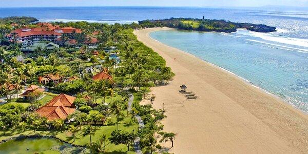 Přepychový 5* resort u pláže na Bali vč. spa i fitness