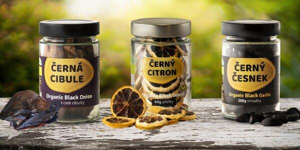 Vyzkoušejte bio černý česnek, cibuli nebo citron