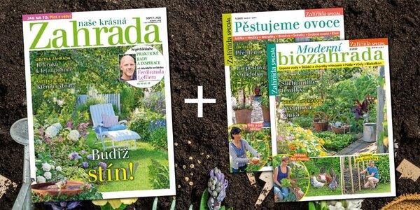 Půlroční předplatné Naše krásná zahrada a 2 bonusy