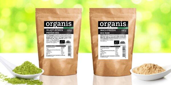 Superpotraviny Organis: mladý ječmen i maca
