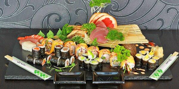 Sushi u Stodolní: 24–35 ks, ryby i vege a smažené