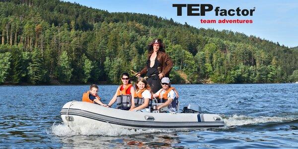 Víkendová honba za pokladem na Slapském jezeře
