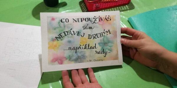 Výtvarné kurzy: malování akvarelem či lettering