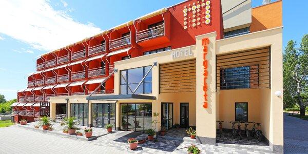 Hotel s wellness a jídlem na břehu Balatonu