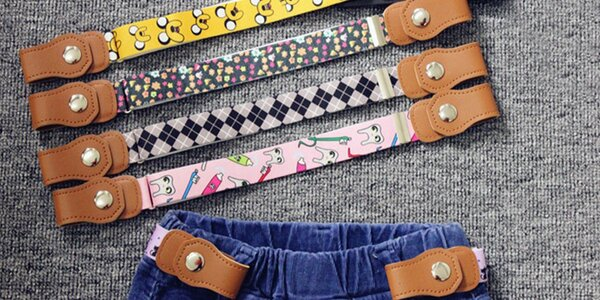 Dětské pásky bez spony: variabilní velikost