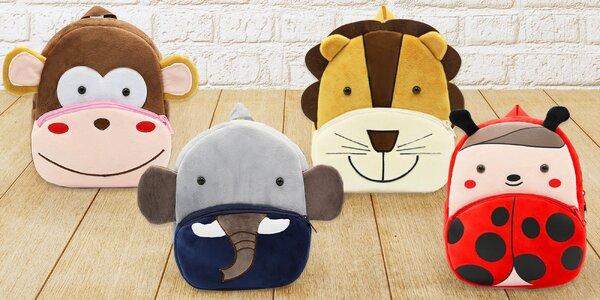 Plyšové dětské batůžky s motivy zvířátek