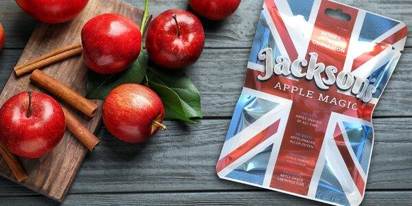 Balíčky prémiových sušených jablek: med a skořice