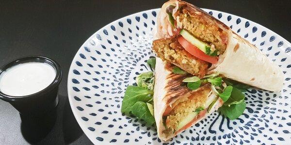 Falafel, kebab nebo cheesesteak pro 1 osobu