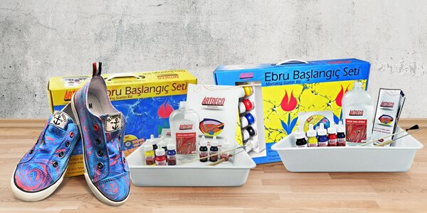 Set Ebru Art pro malování na vodní hladině