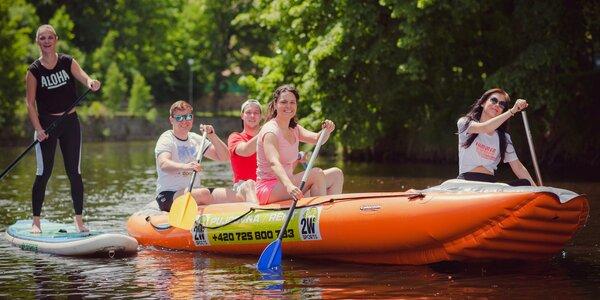 Historický Krumlov na paddleboardu, kanoi i raftu