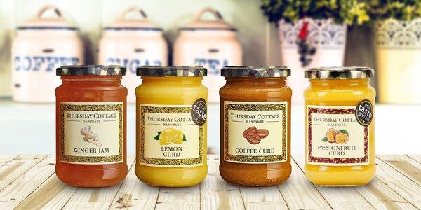 Anglické ovocné krémy a džemy: citron, káva, zázvor