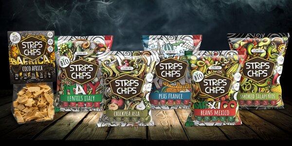 Strips Chips: Zdravé křupání z luštěnin nebo kokosu