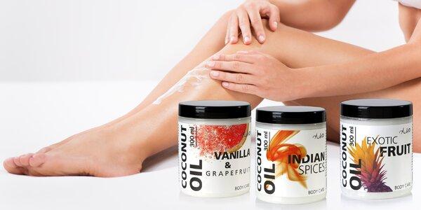 Kokosový olej na tělo: na výběr 3 smyslné vůně