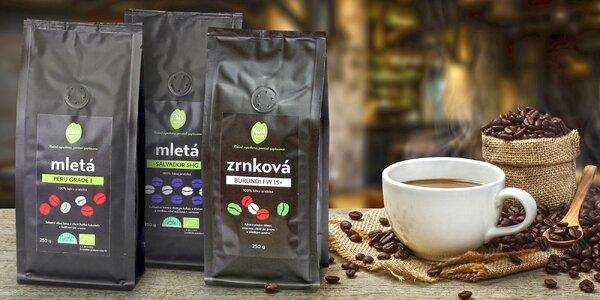 Čerstvě pražená zrnková i mletá fair trade káva