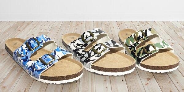 Pánské korkové bio pantofle s potiskem, 4 barvy