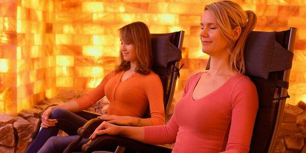 Soukromá relaxace v solné jeskyni pro 2 osoby