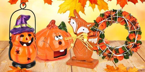 Podzimní dekorace: dýně, lucerny, věnce i větývky