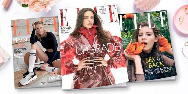 Čtvrtletní tištěné předplatné časopisu ELLE
