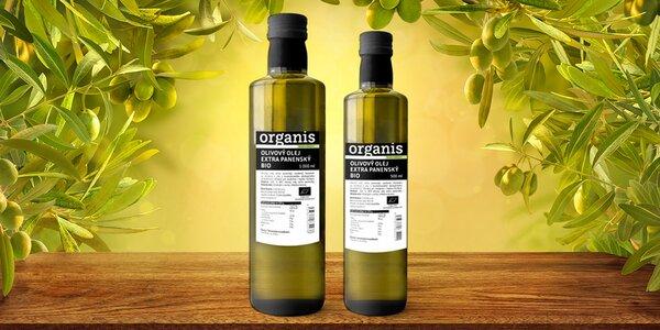 Bio extra panenský olivový olej: 500 nebo 1000 ml