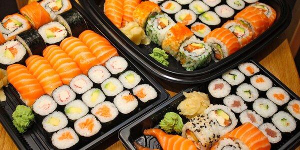 Set 18, 28 nebo 34 ks sushi s rybami i zeleninou