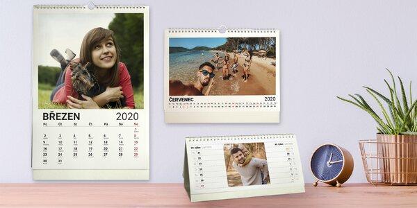 Stolní či nástěnný kalendář z vlastních fotografií