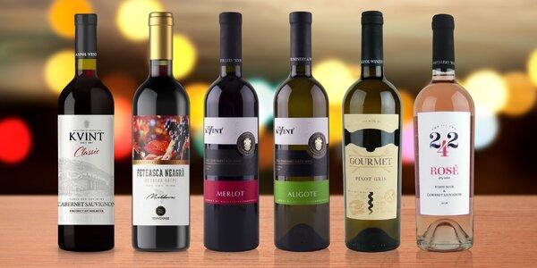 Sety vín po 3 i 6 lahvích: Pinot, Cabernet, Merlot