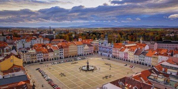 Pobyt v centru Českých Budějovic se snídaní