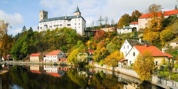 Pobyt v penzionu s polopenzí u hradu Rožmberk